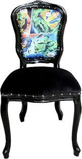casa padrino barock luxus esszimmer stuhl comic schwarz