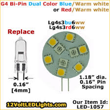 12 volt led bulb g4 led bi pin side bi color switchable led bulb