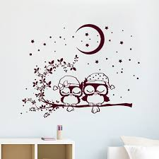 Owl Bedroom Wall Stickers by Wall Decals Owl Love Childrens Kids Vinyl Sticker Moon Crescent