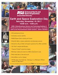 Asu Help Desk Jobs by Earth And Space Exploration Day 2017 Asu Events