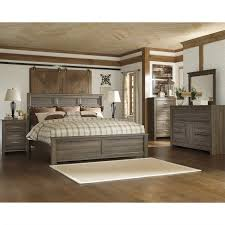 signature design by ashley furniture juararo panel bed in dark