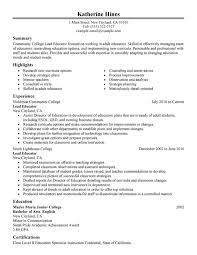 Lead Educator Resume Sample