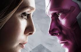 SCARLET WITCH THE VISION Smooch In AVENGERS INFINITY WAR