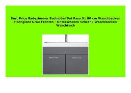 discount badezimmer badm bel set paso 01 80 cm waschbecken