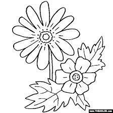 Anemone Flower Online Coloring Page