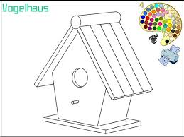 Birdhouse Coloring Pages For Kids