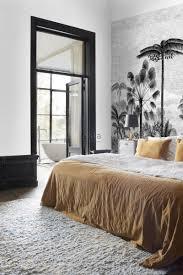 fototapete tropische landschaft mit palmen schwarz weiß esta home
