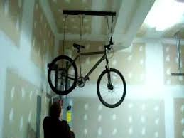 ceiling mounted bicycle hoist youtube