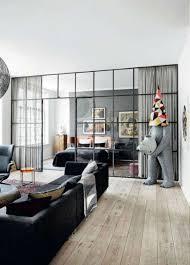 glaswand industrierahmen wohnzimmer 2 wohnen