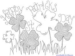 COLORING PAGES Cute Clover St Patricks Day Printable Land Of Nod Stpatricksday