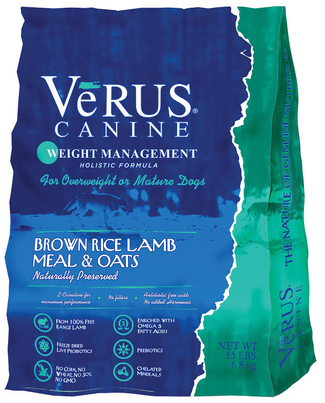 Verus Weight Management Formula Dry Dog Food, 15-lb