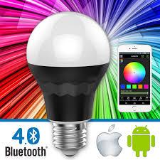 lumen8 bluetooth 7 5w multi colored smart led light bulb