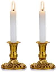 sziqiqi kerzenständer kerzenhalter kerzenleuchter in gold für schabbat kerzen 2er set metall deko vintage kerzenständer kerzen ständer tischdeko für