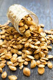 Roasting Pumpkin Seeds In The Oven Cinnamon by Roasted Spicy Seasoned Pumpkin Seeds U2014 Tastes Lovely