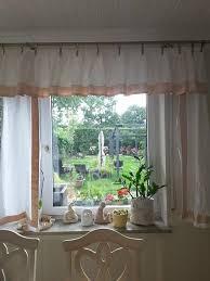 gardinen für die küche oder bad weiss beige aus leinen