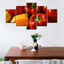 toile de cuisine frais vert poivre poivre poivron image imprimer toile