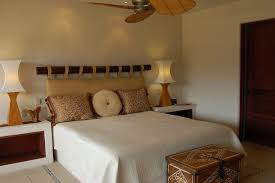padded headboard in bedroom tropical with bamboo headboard next to
