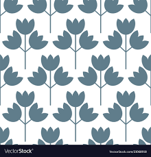 100 Scandinvian Design Floral Pattern Surface Design Scandinavian Style Vector Image