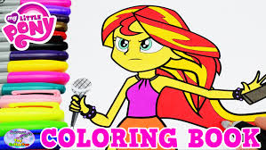 Sunset Shimmer My Little Pony Coloring Sheets Equestria Girls Book