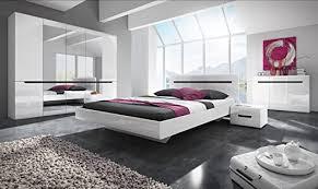 schlafzimmer set hektor hochglanz bett 160 200 cm weiß