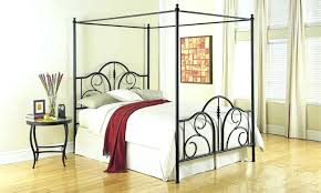 Twin Metal Canopy Bed Pewter With Curtains by Metal Canopy Bed U2013 Alil Me