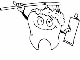 Coloring Page Tooth Brushing Himself In Download Print It