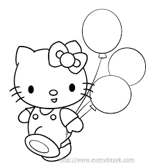 Hello Kitty Color Face Coloring Pages