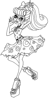 Coloriage De Monster High Coloriage Monster High Imprimer Baby 216