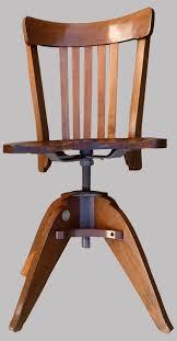 chaise de bureau antique chaise de bureau modèle americain pivotant et réglable en hauteur