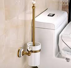 spoly wc bürsten halter europa vintage toilettenbürste und halter wand bad accessoires kupfer toilettenbürste porzellan tasse und tasse halter