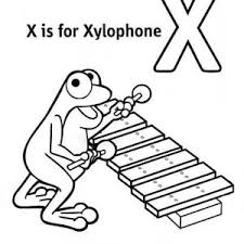 Letter X Learn For Xylophone Coloring Page