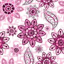 Download Floral Pink Grunge Seamless Pattern Stock Vector