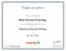 Bilal Ahmad - Twenty19 Effective Resume Writing Course ... Effective Rumes And Cover Letters Usc Career Center Resume Profile Examples For Resume Dance Teacher Most Samples Cv Template Year 10 Examples Creating An When You Lack The Required Recruit Features Staffing 5 Effective Formats Dragon Fire Defense Barraquesorg Design 002731 Catalog Objective Statements 19 In Comely Writing Rsum Thebestschoolsorg Calamo Writing Tips