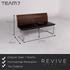 team 7 stretto magnum designer esszimmer garnitur holz braun 1x tisch 1x sitzbank 4x stuhl 9847