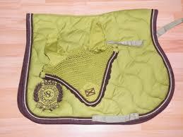 tapis scapa pistache choco bonnet matériel d équitation à