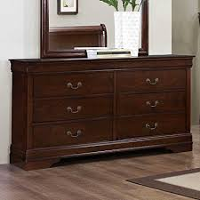 Hayworth Mirrored Chest Silver by Amazon Com Weston Home Hayworth 6 Drawer Dresser With Mirror