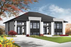 100 Semi Detached House Designs Contemporary MultiFamily Plan 22329DR