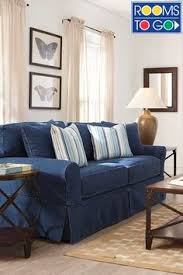 Cindy Crawford Beachside Denim Sofa by This Cindy Crawford Sleeper Sofa From Rooms To Go Is The Most