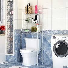 3 tiers lackierter stahl toilettenregal wc regal badezimmer regal aufbewahrungsregal für badezimmer 165 55 26cm weiß