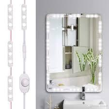 großhandel led eitelkeit spiegel lights kit 60 leds 10ft dimmable make up spiegel lichter 6000k tageslicht weiß mit dimmer für schminktisch badezimmer