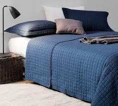 Super Soft Navy Blue King XL Oversized Quilt  Microfiber