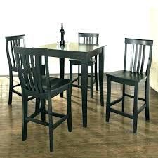 Black Pub Table And Chairs Small Set
