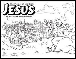 Skillful Design Bible Coloring Pages Jesus The Heroes Of