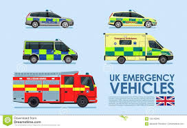 100 Emergency Truck UK Vehicles Cars Police Car Ambulance Van Fire