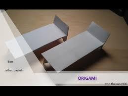 tutorial origami faltanleitung bett teil 1