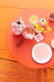 einrichten und wohnen mit orange möbel und deko