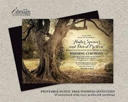 Rustic Tree Wedding Invitations Zoom Laser Cut