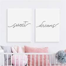 de nordic poster schwarz weiß sweet dreams zitate