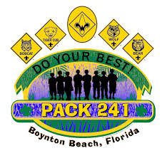 Cub Scout Committee Chair Patch Placement by Cub Scout Pack 241 Boynton Beach Fl