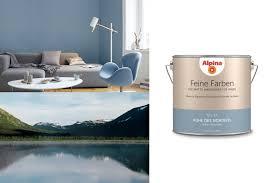 alpina 2 5 l feine farben no 14 ruhe des nordens stilles graublau edelmatte wandfarbe für innen